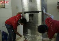 vận chuyển tủ lạnh đúng cách